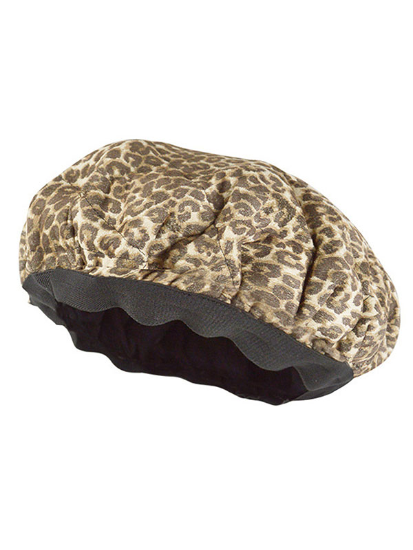Leopard Print Deep Conditioning Microwavable Heat Cap