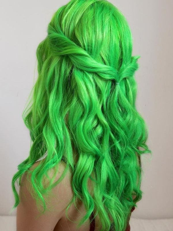 Lace Front Middle Part Stella Green Wig Stella01