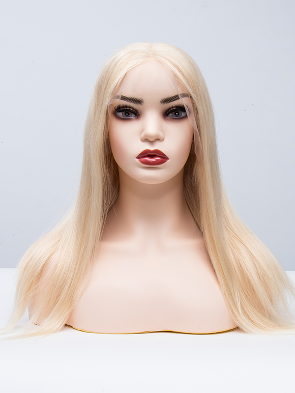 LACE FRONT T Part Dyeable Blonde Human Hair Wig TPW613A