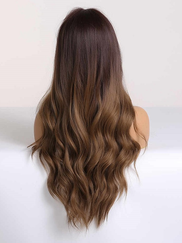 Brown Ombre Lace Front Middle Part Wig W12