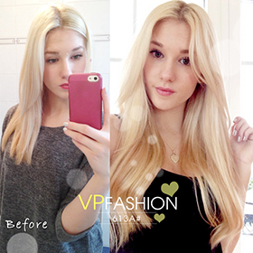 White blonde solid clip in indian remy hair extensions s613a 613 platinum blonde 22inches220g pmusecretfo Gallery