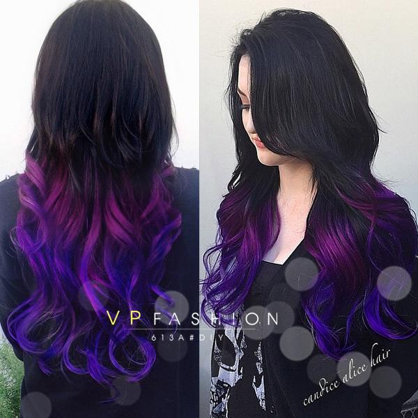 Purple And Black Hair Extensions Images Black Hair Surion