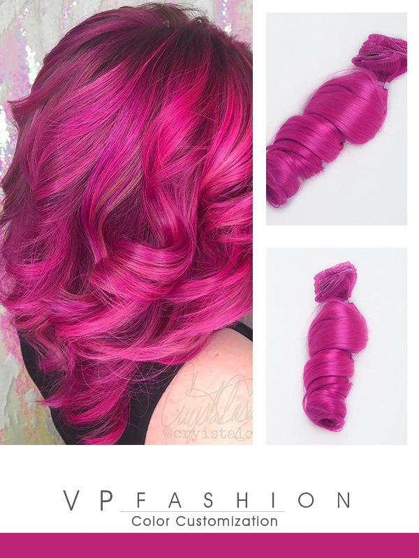 Magenta Series Colorful Clip In C073