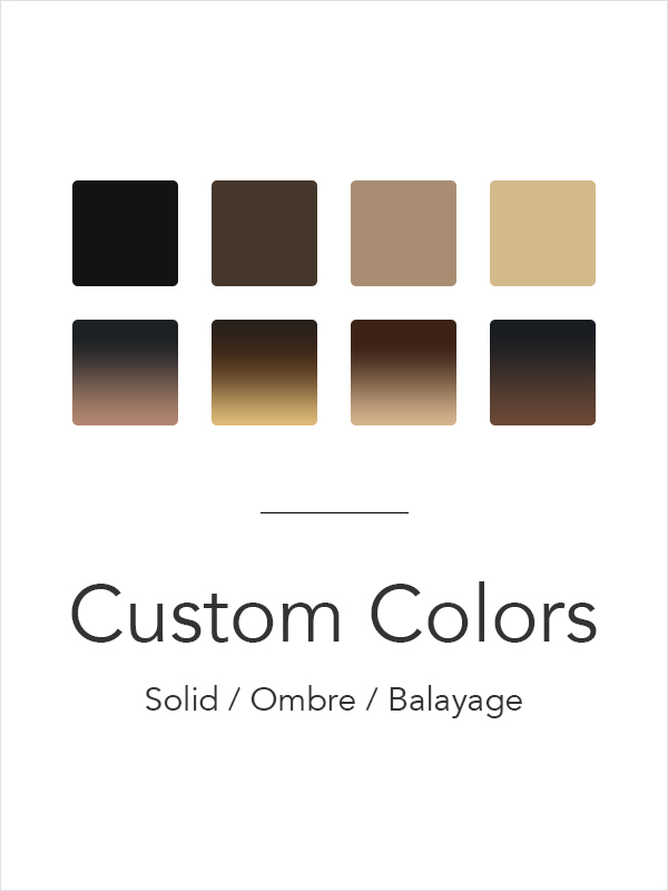 Exclusive Customization of Solid & Ombre & Balayage Clip In