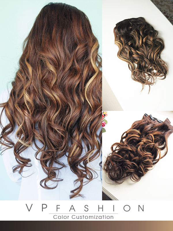 balayage hairstyles use indian remy clip in hair extensions-h03b3027a