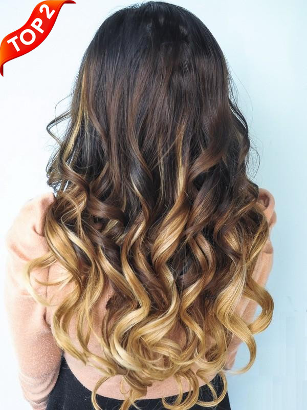 Two Colors Ombre Clip In Hair Extensions M053027h27 M053027h27