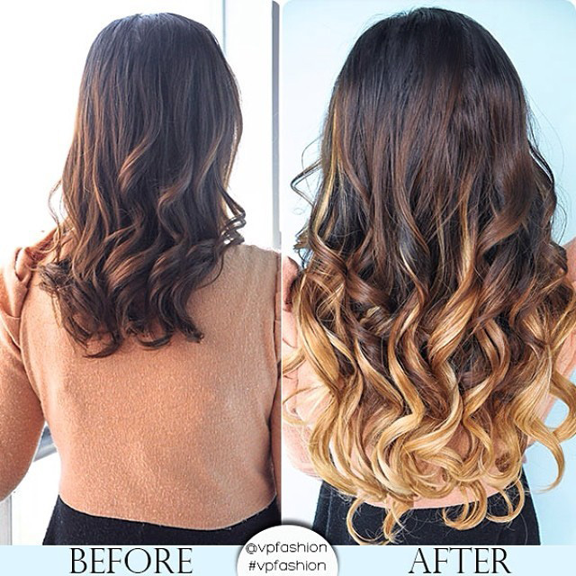 Two colors ombre clip in hair extensions m053027h27 m053027h27 two colors ombre clip in hair extensions m053027h27 pmusecretfo Choice Image