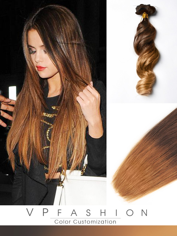Two Colors Ombre Clip In Hair Extensions M0530A