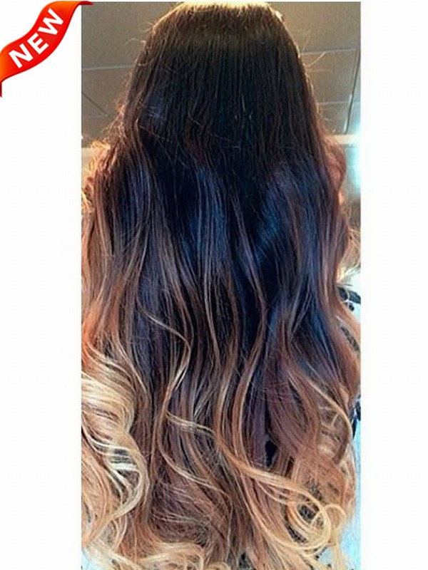 Three Colors Ombre Clip In Hair Extensions M1b27s27h30 M1b27s27h30