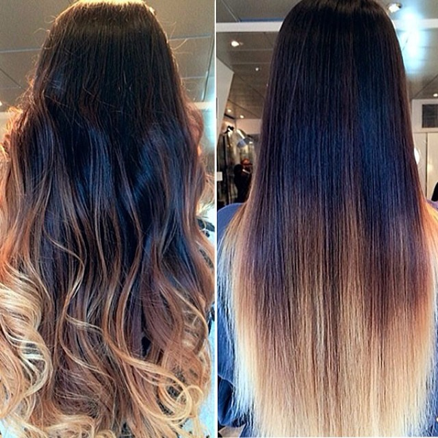 Three colors ombre clip in hair extensions m1b27s27h30 what is your most wanted hair extension pmusecretfo Images