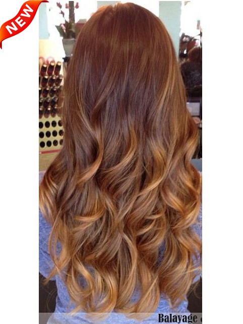 Two Colors Ombre Clip In Hair Extensions M3027sh27s