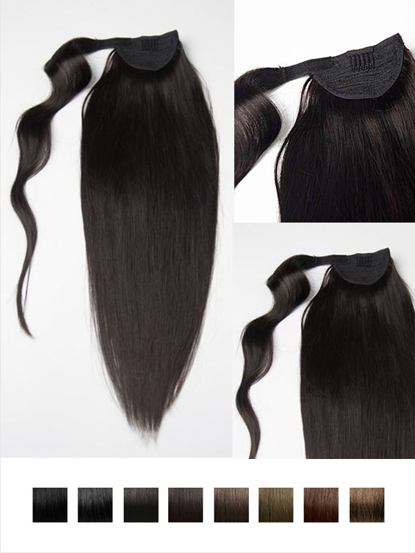 Vpfashion Indian Remy Hair Ponytail Dark Series PN001