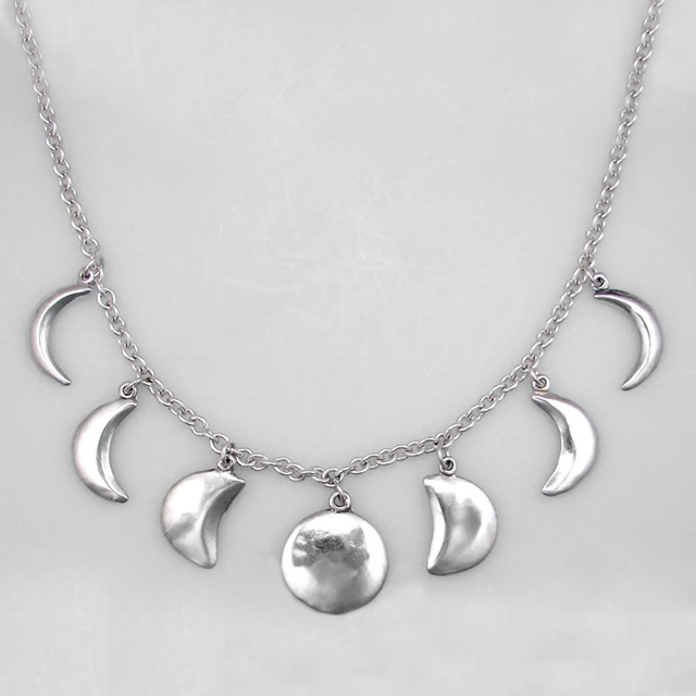 [Pre Order] Phases of the Moon Silver Necklace