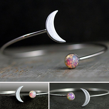 [Pre Order] Purple Silver Moon Ring