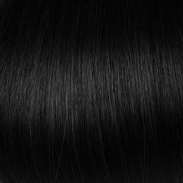 Jet Black Solid Clip In Indian Remy Hair Extensions S01