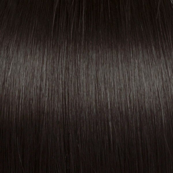 Medium Dark Brown Solid Clip In Indian Remy Hair Extensions S03
