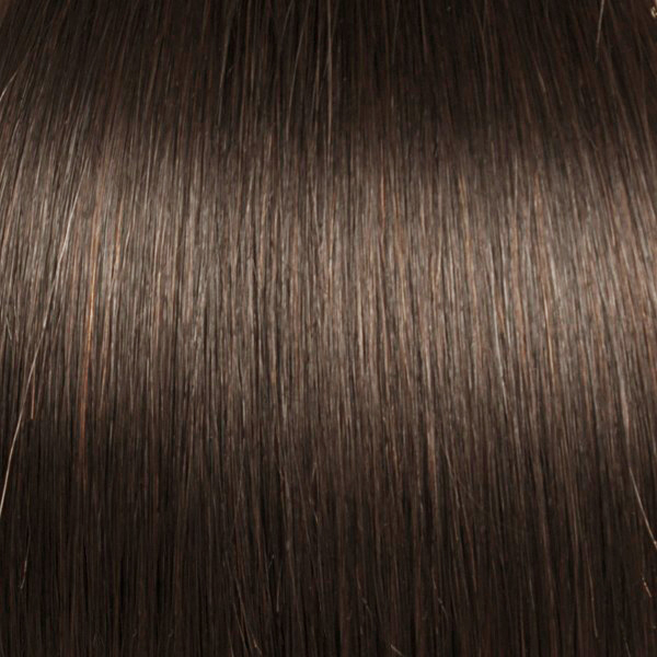 Medium Brown indian remy clip in hair extensions S05