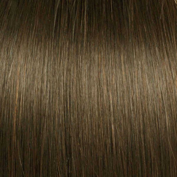 Light Natural Brown Solid Clip In Indian Remy Hair Extensions S07