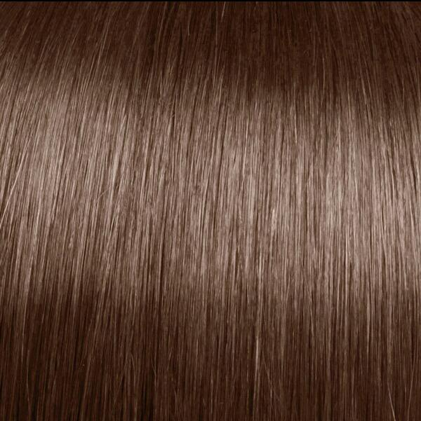 Light Auburn indian remy clip in hair extensions S30