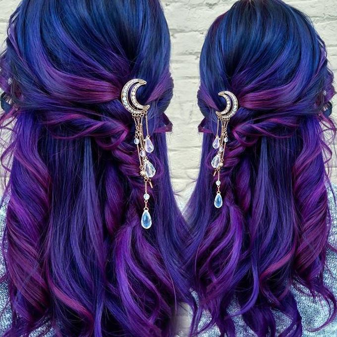 Moon Crystal Tassels Hair Clips Awh0003 Wh0003