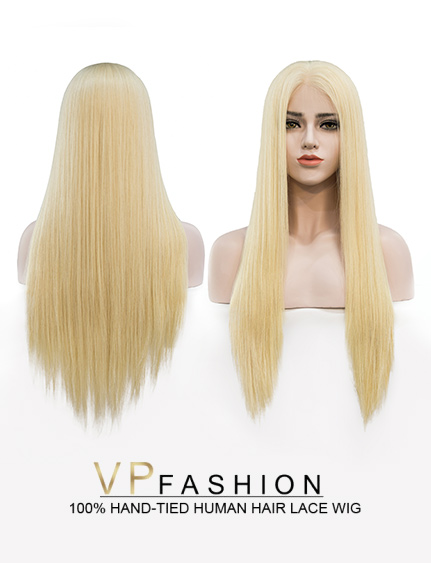 White Blonde (DIY DYE)  Lace Front Wig W613A