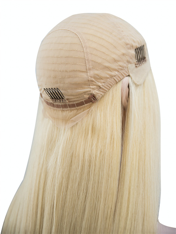 White Blonde Diy Dye Lace Front Wig W613a