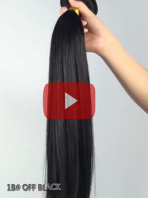 Off Black Solid Clip In Indian Remy Hair Extensions S1B